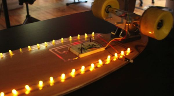 Student Uses Kinetic Energy To Power Skateboard S Leds