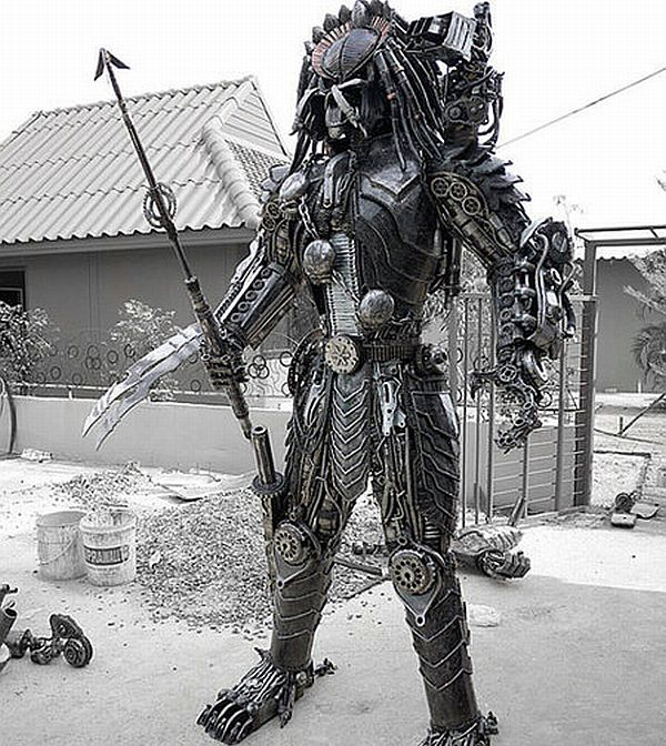 Life-Sized Steampunk Predator