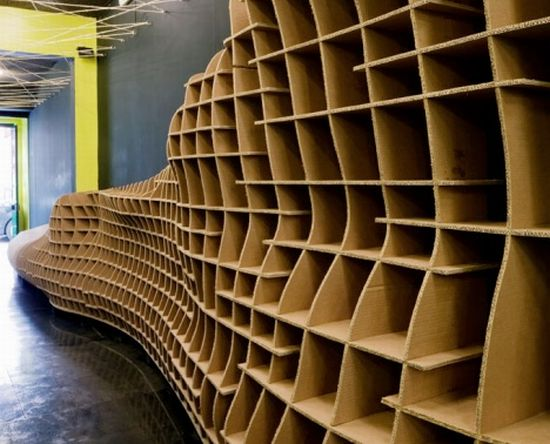 Eco Friendly Lisbon Store Built From Cardboard Sells