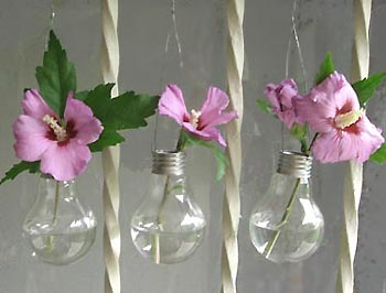 make vases with your old bulbs