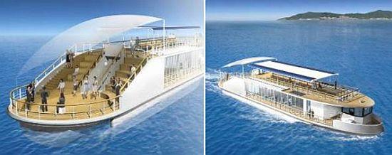 Eco Transportation: Tempura-oil-powered ship, cruising on ...