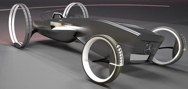 MercedesBenz Electric Vehicle Concept by Ali Khanzadi
