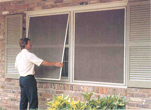 Meshed wire window screens