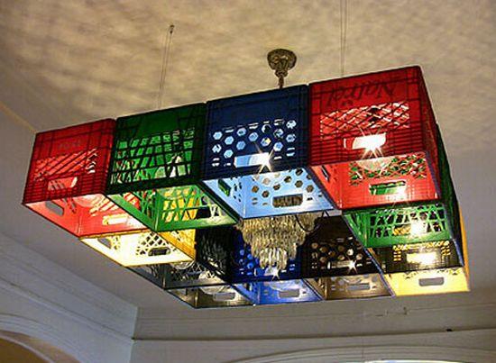 milkcrate chandelier