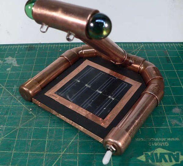 Miss Betsy's Rechargable Steampunk Solar Nightlight