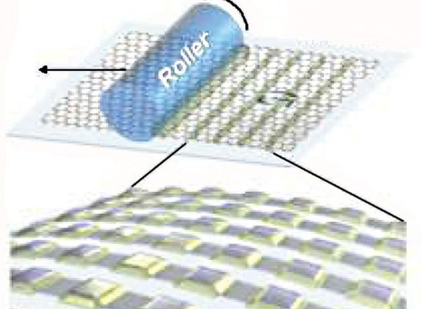 Motorized roller could mass-produce graphene-based devices