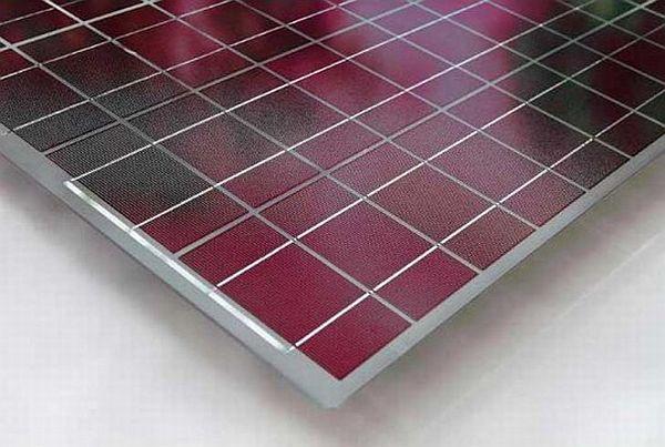 Multicolored solar panels