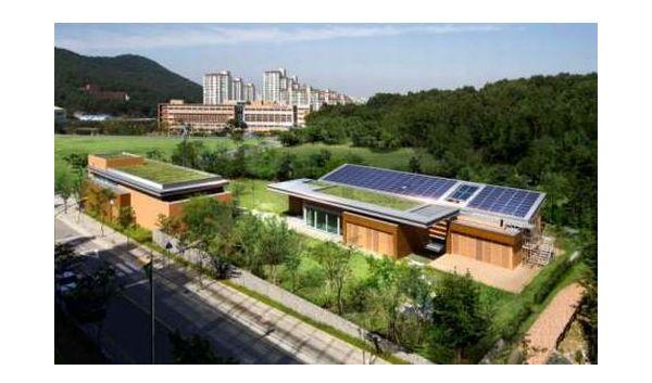 Net zero modern house in South Korea