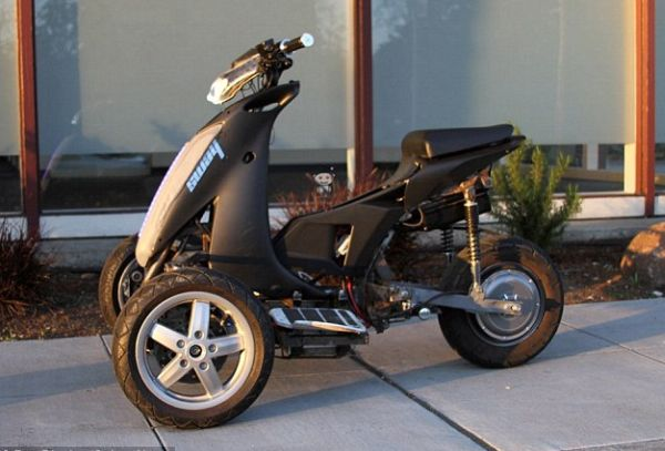 Sway electric trike offers the fun of a bike with a fall for Motor trikes for sale uk