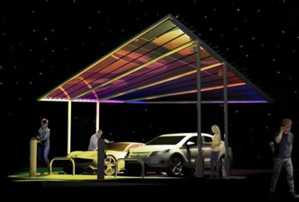 New York company pitches Solar Sail EV charging stations