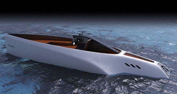 Novague solar powered yacht concept
