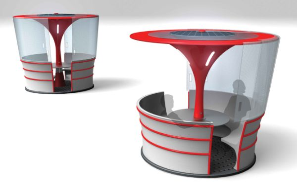 Outdoor bench ideas - Oasis Eco Conscious Seating Booth For Public Areas