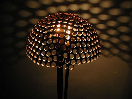 Eco gadgets honeycomb inspired lamp made from recycled Eco light fixtures