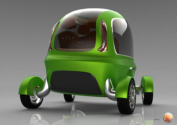 OPTI concept driverless electric taxi for a green London in 2025