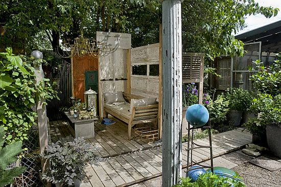 Eco Homes: Outdoor Living Room Crafted From Trash