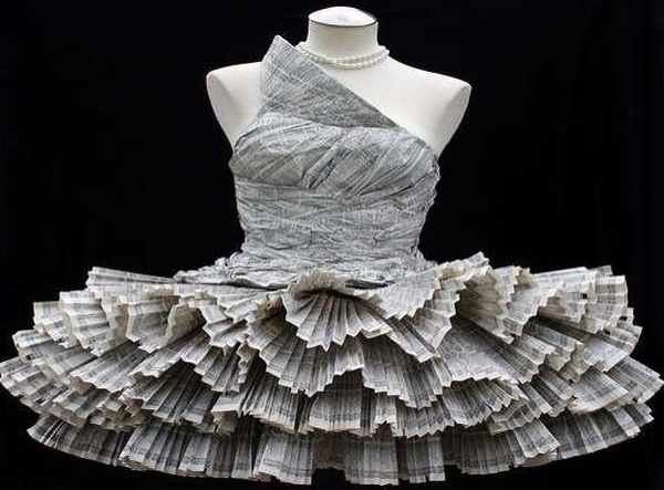 Most interesting dresses made from recycled materials ...
