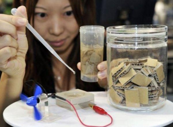 Paper powered bio battery