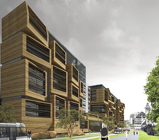 Student Apartments: Eco Architecture: OFIS Arhiteckti Designs Sustainable