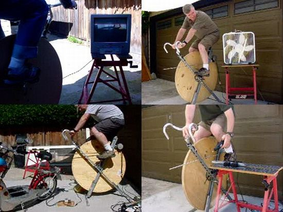 pedal powered generator