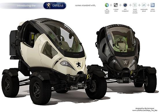 Eco Cars Peugeot Capsule Electric Atv Keeps You