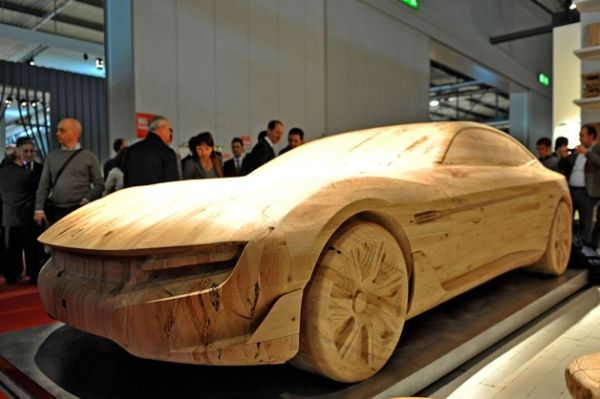 Wooden sculpture of Pininfarina Cambiano to grace the Milan