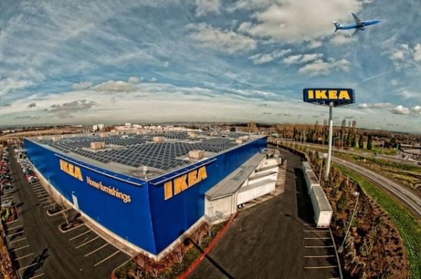 Portland IKEA installs solar energy system on roof