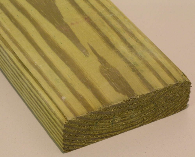 how to tell the difference between treated and untreated wood