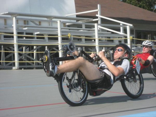 Racer recumbent bike