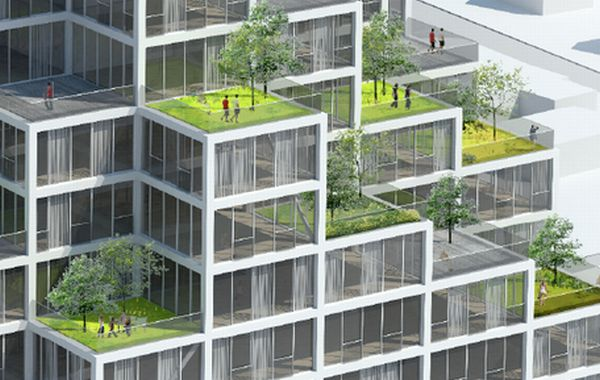 10 sustainable skyscrapers designed to have green roofs