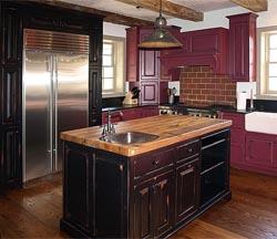 Reclaimed wood countertop