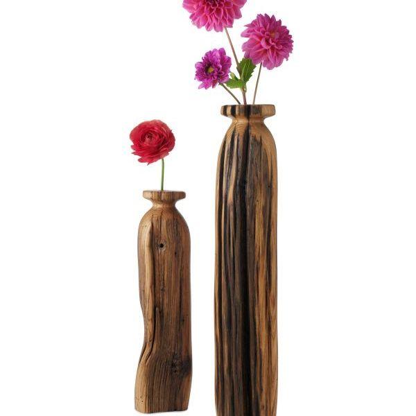Reclaimed wood vases