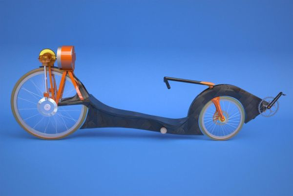 Recumbent with a flywheel storage