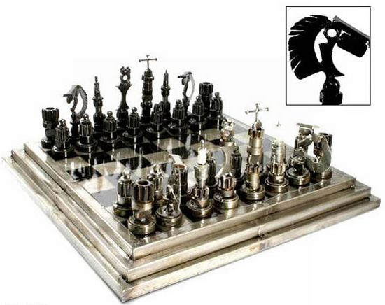 10 amazing chess sets made from recycled materials ecofriend