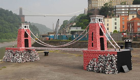 recycled coke cans sculptures 2
