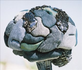 recycled jeans as human brain