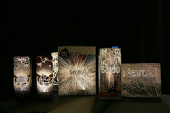 recycled packaging lights