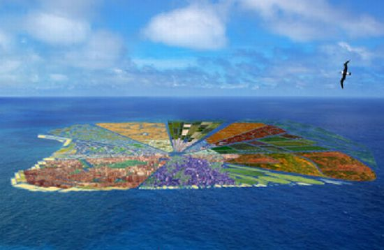 Whim Architecture Envisions Giant Recycled Island Made