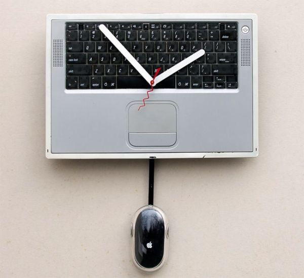 Recycled Apple Power book Cover Clock