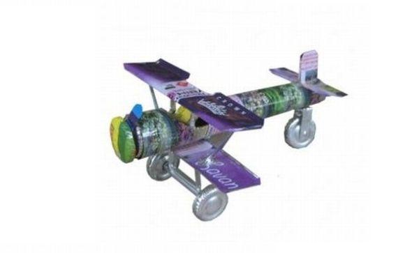 Recycled Craft- Tin Can Aeroplane