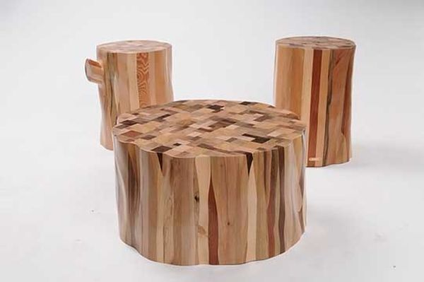 Recycled solid wood furniture by Ubico