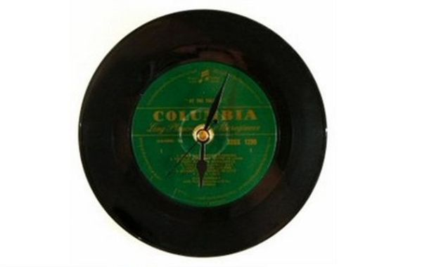 Recycled Vinyl Clock