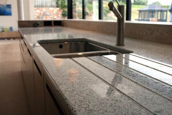 Resilica - recycled glass countertops