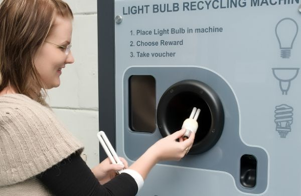 ReVend's crazy reverse vending machine allow recyclers to safely dispose of light bulbs and batteries