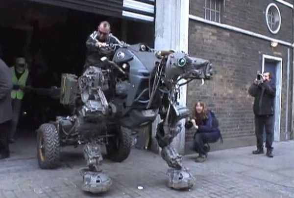 Robot made from scrap