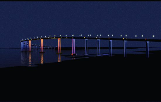 san diego coronado bay bridges led lighting 1