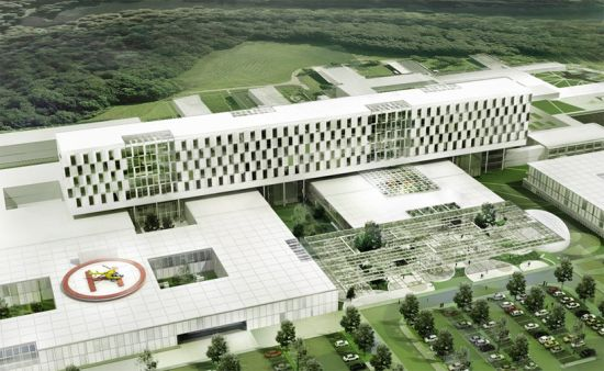 Schmidt hammer lassen architects proposes sustainable for Hospital building design
