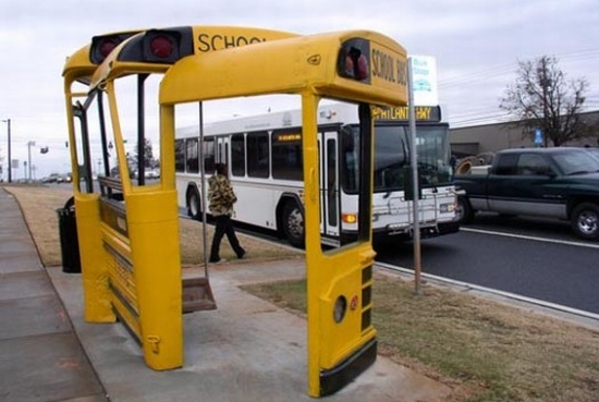 school bus shelter 1