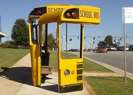 school bus shelter