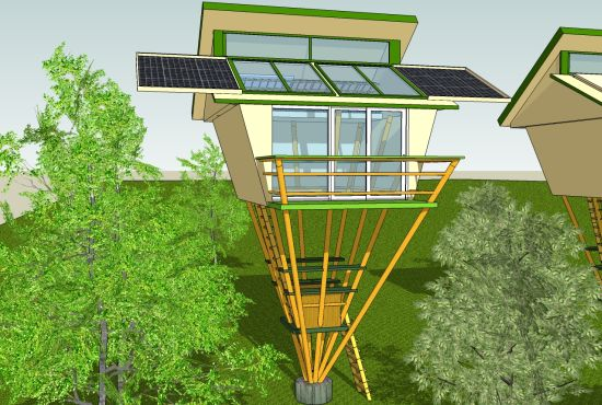 Self-sufficient, eco friendly bamboo tree house - Promoting Eco ...