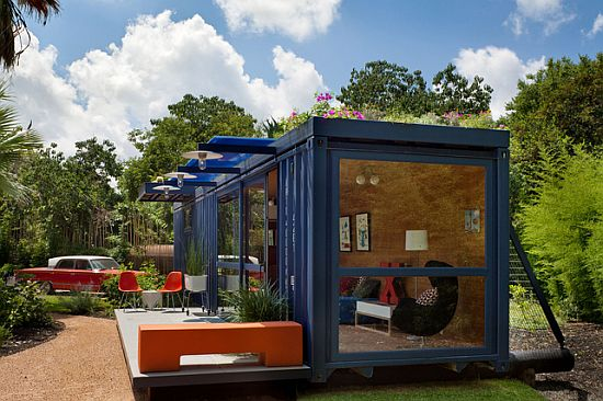 Sustainable shipping container home by jim poteet ecofriend - Container homes texas ...